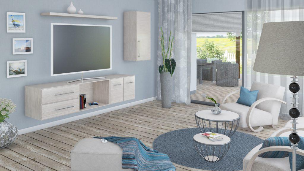 3D Visualisierung Raumdesign Wohnzimmer VRay Renderoutput
